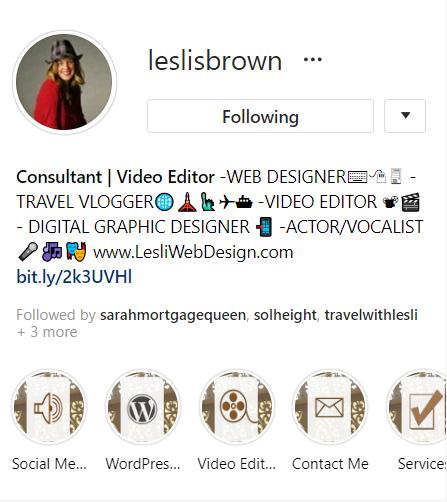 lesli IG profile shot