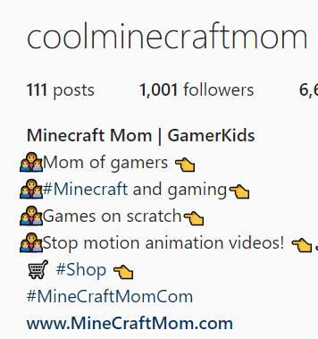 minecraft mom followers