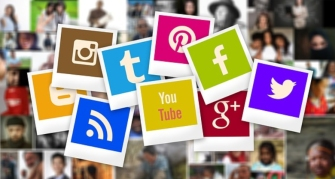 polaroid social icons